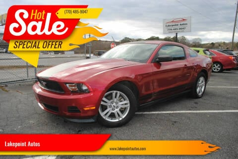2012 Ford Mustang for sale at Lakepoint Autos in Cartersville GA