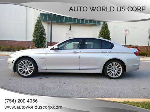 2011 BMW 5 Series for sale at Auto World US Corp in Plantation FL