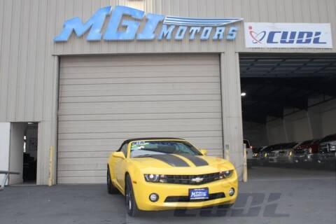 2011 Chevrolet Camaro for sale at MGI Motors in Sacramento CA