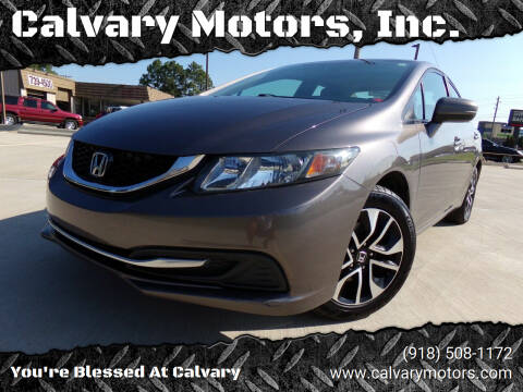 2014 Honda Civic for sale at Calvary Motors, Inc. in Bixby OK