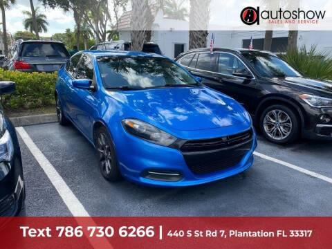 2015 Dodge Dart for sale at AUTOSHOW SALES & SERVICE in Plantation FL