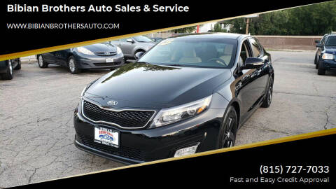 2015 Kia Optima for sale at Bibian Brothers Auto Sales & Service in Joliet IL