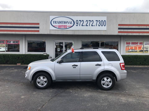 2012 Ford Escape for sale at Traditional Autos in Dallas TX