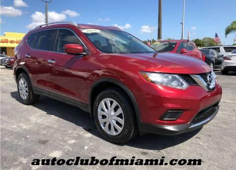 2016 Nissan Rogue for sale at AUTO CLUB OF MIAMI in Miami FL