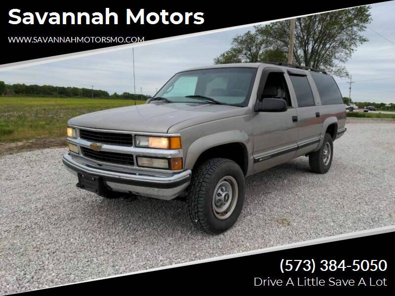1999 Chevrolet Suburban for sale at Savannah Motors in Elsberry MO