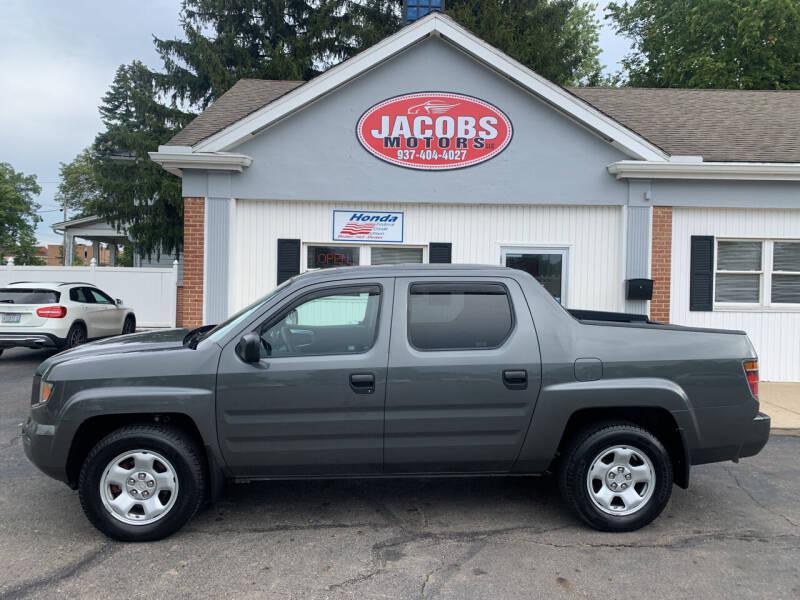 2007 Honda Ridgeline for sale at Jacobs Motors LLC in Bellefontaine OH