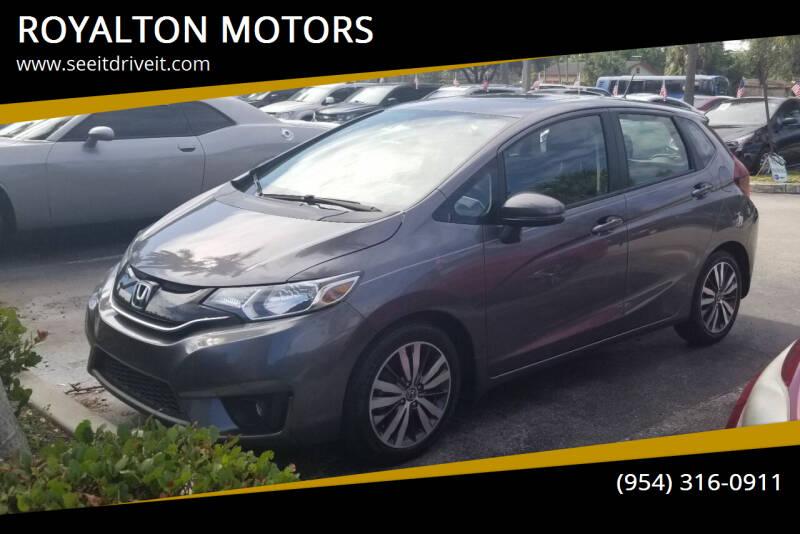 2016 Honda Fit for sale at ROYALTON MOTORS in Plantation FL