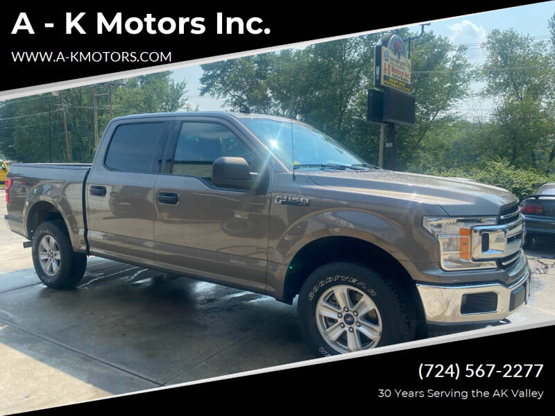 2019 Ford F-150 for sale at A - K Motors Inc. in Vandergrift PA