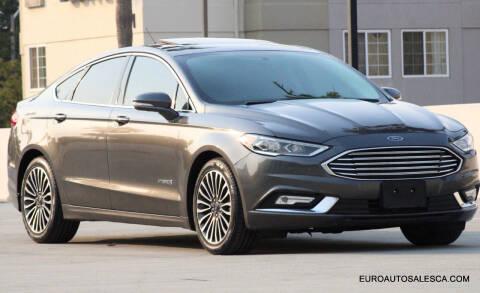 2018 Ford Fusion Hybrid for sale at Euro Auto Sales in Santa Clara CA