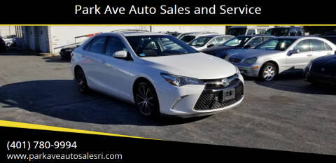 2015 Toyota Camry for sale at Park Ave Auto Sales and Service in Cranston RI