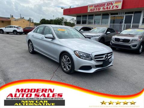 2015 Mercedes-Benz C-Class for sale at Modern Auto Sales in Hollywood FL