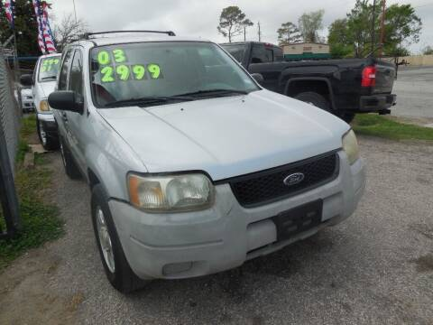 2003 Ford Escape for sale at SCOTT HARRISON MOTOR CO in Houston TX