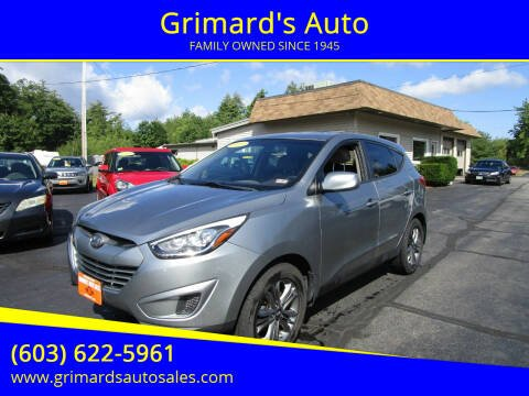 2015 Hyundai Tucson for sale at Grimard's Auto in Hooksett, NH