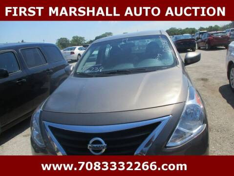 2017 Nissan Versa for sale at First Marshall Auto Auction in Harvey IL