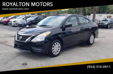 2019 Nissan Versa for sale at ROYALTON MOTORS in Plantation FL
