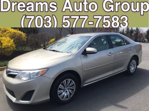 2013 Toyota Camry for sale at Dreams Auto Group LLC in Sterling VA