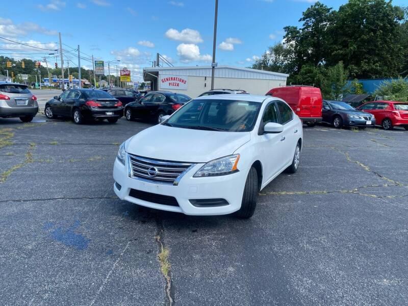 2015 Nissan Sentra for sale at M & J Auto Sales in Attleboro MA