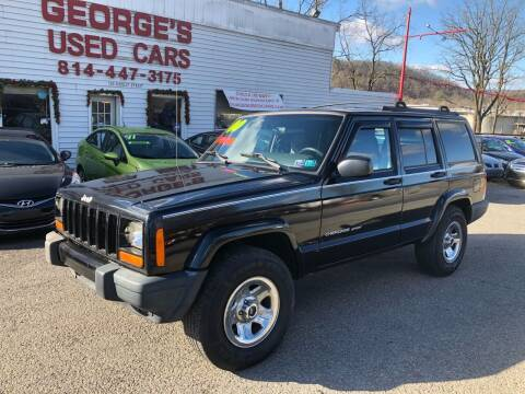 1999 Jeep Cherokee for sale at George's Used Cars Inc in Orbisonia PA