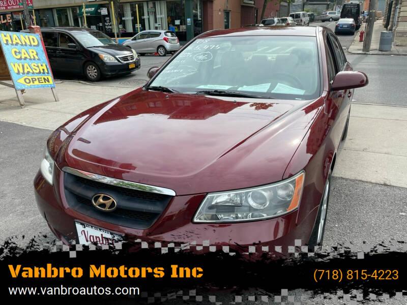 2008 Hyundai Sonata for sale at Vanbro Motors Inc in Staten Island NY