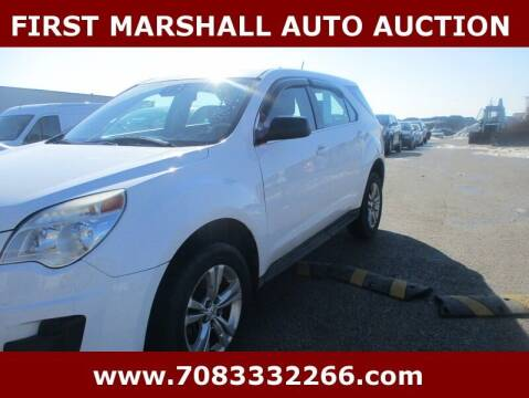2013 Chevrolet Equinox for sale at First Marshall Auto Auction in Harvey IL