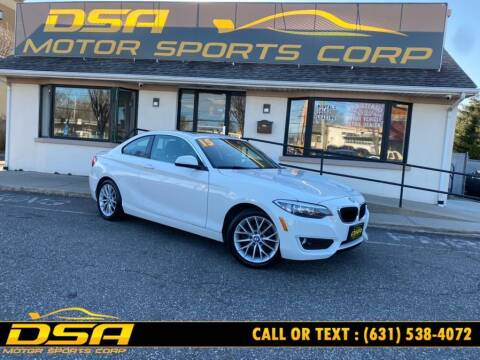 2015 BMW 2 Series for sale at DSA Motor Sports Corp in Commack NY
