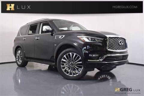2019 Infiniti QX80 for sale at HGREG LUX EXCLUSIVE MOTORCARS in Pompano Beach FL