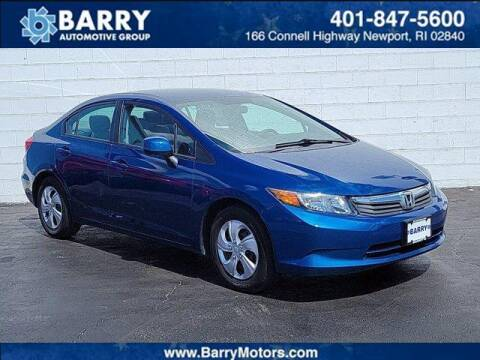 2012 Honda Civic for sale at BARRYS Auto Group Inc in Newport RI