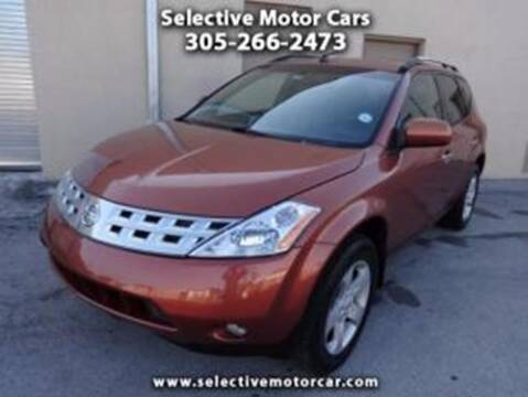 2003 Nissan Murano for sale at Selective Motor Cars in Miami FL