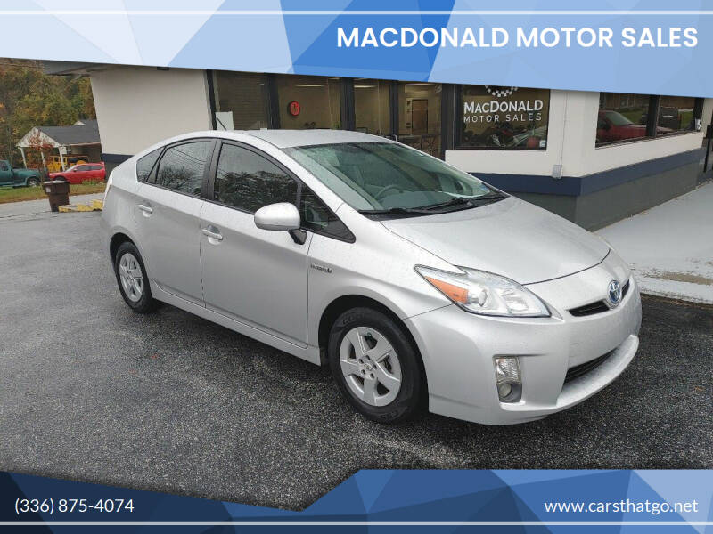 2011 Toyota Prius for sale at MacDonald Motor Sales in High Point NC