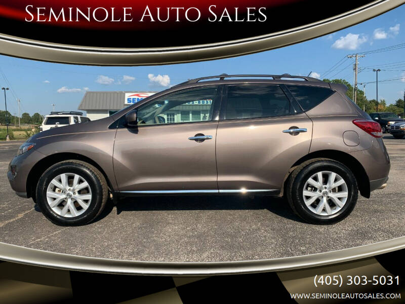 2014 Nissan Murano for sale at Seminole Auto Sales in Seminole OK