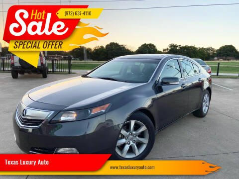 2014 Acura TL for sale at Texas Luxury Auto in Cedar Hill TX