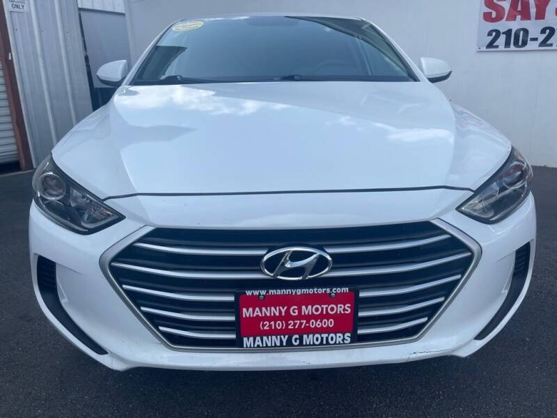 2017 Hyundai Elantra for sale at Manny G Motors in San Antonio TX