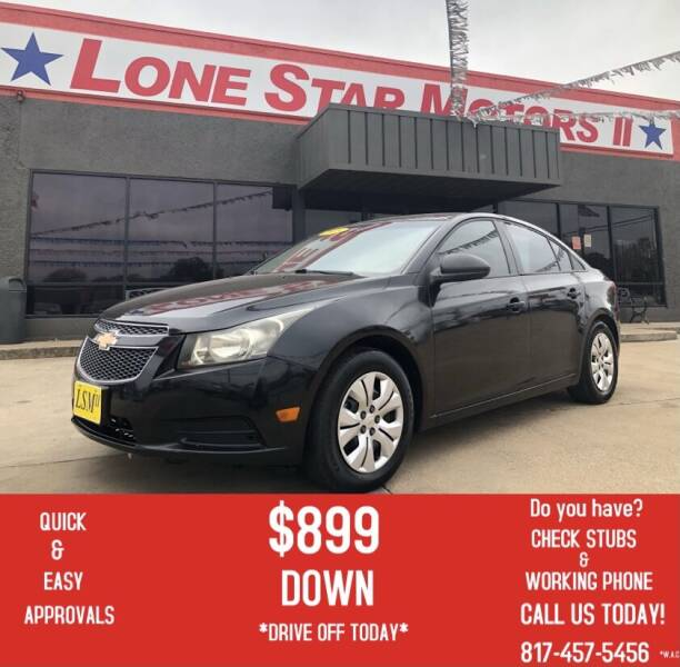 2013 Chevrolet Cruze for sale at LONE STAR MOTORS II in Fort Worth TX