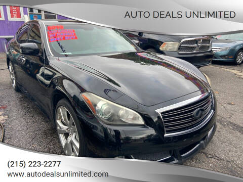 2013 Infiniti M37 for sale at AUTO DEALS UNLIMITED in Philadelphia PA