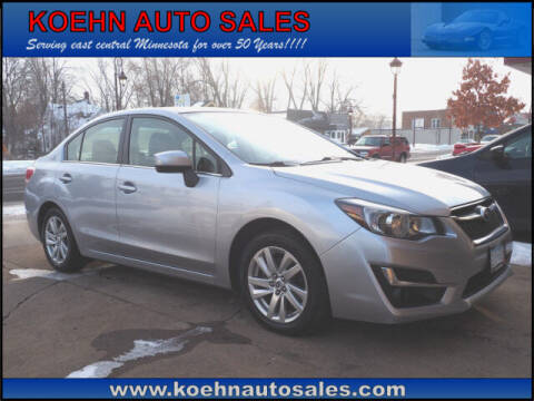 2015 Subaru Impreza for sale at Koehn Auto Sales in Lindstrom MN