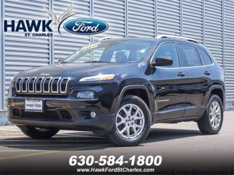 2014 Jeep Cherokee for sale at Hawk Ford of St. Charles in St Charles IL