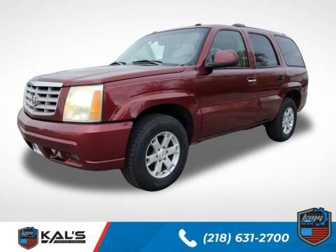 2003 Cadillac Escalade for sale at Kal's Kars - SUVS in Wadena MN