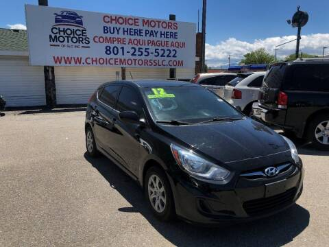 2012 Hyundai Accent for sale at Choice Motors of Salt Lake City in West Valley  City UT