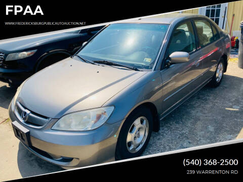 2004 Honda Civic for sale at FPAA in Fredericksburg VA