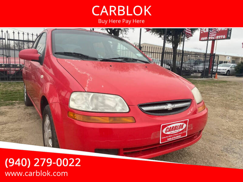 2005 Chevrolet Aveo for sale at CARBLOK in Lewisville TX