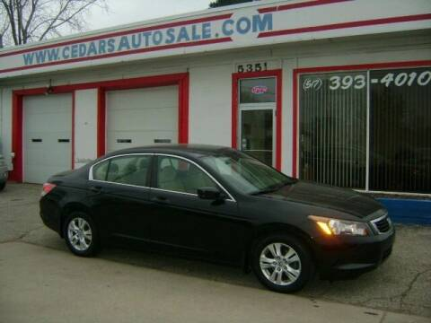 2009 Honda Accord for sale at Cedar Auto Sales in Lansing MI