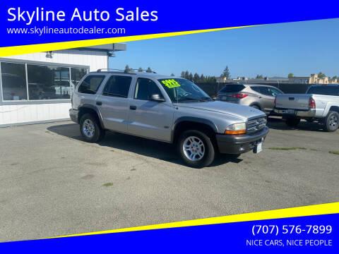 2002 Dodge Durango for sale at Skyline Auto Sales in Santa Rosa CA