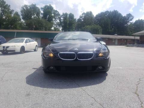 2005 BMW 6 Series for sale at 5 Starr Auto in Conyers GA