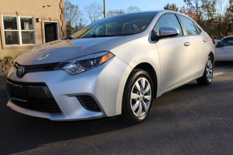 2016 Toyota Corolla for sale at Euro 1 Wholesale in Fords NJ
