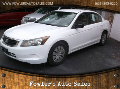 2009 Honda Accord for sale at Fowler's Auto Sales in Pacific MO