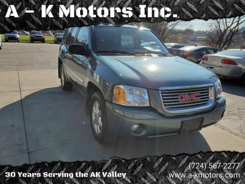2009 GMC Envoy for sale at A - K Motors Inc. in Vandergrift PA