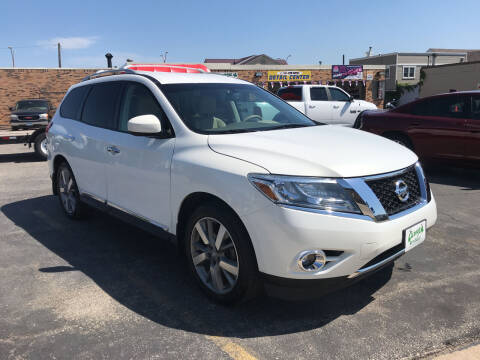 2013 Nissan Pathfinder for sale at Carney Auto Sales in Austin MN