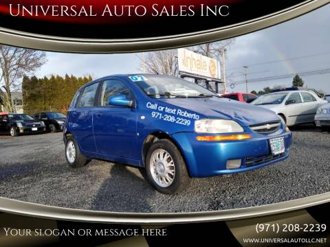 2007 Chevrolet Aveo for sale at Universal Auto Sales Inc in Salem OR