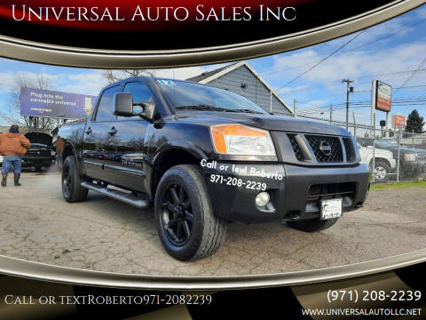 2012 Nissan Titan for sale at Universal Auto Sales Inc in Salem OR