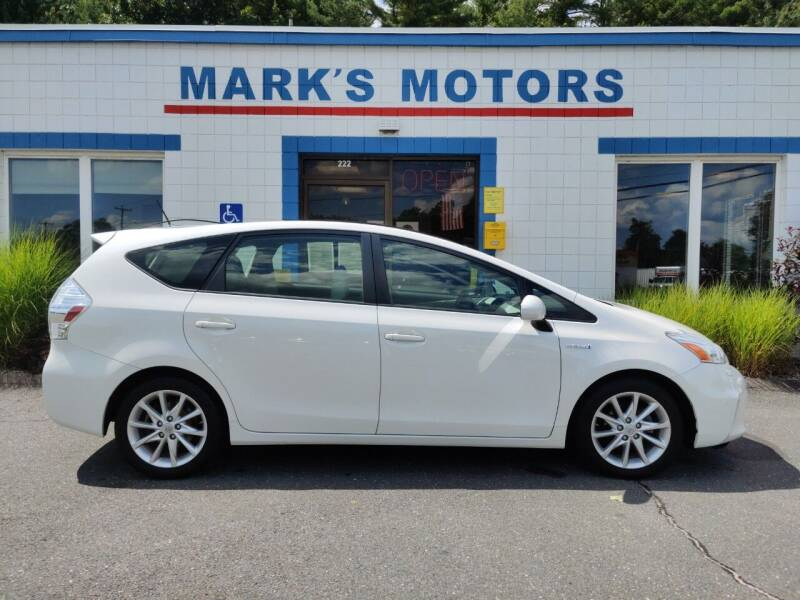 2012 Toyota Prius v for sale at Mark's Motors in Northampton MA